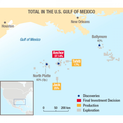 Total in the U.S. Gulf of Mexico